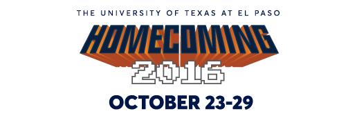 UTEP Homecoming Banner